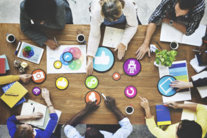 What is the ideal structure of a web marketing team in a mid-sized B2B company?